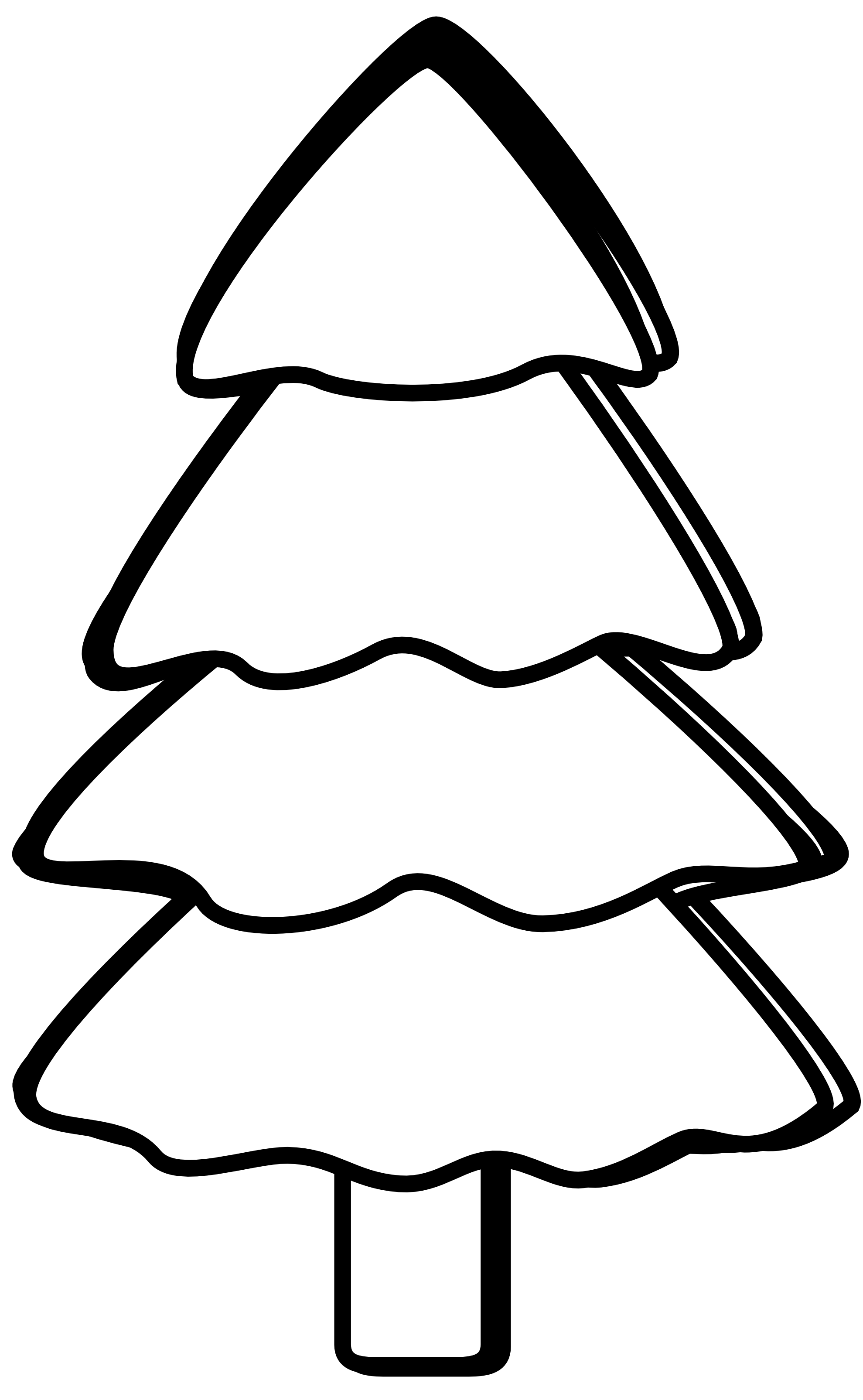 58 images of Black And White Christmas Tree Clip Art . You can use ...