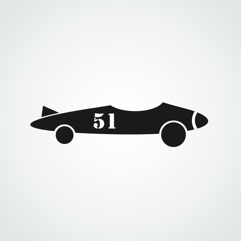 Simple Race Car Stencil