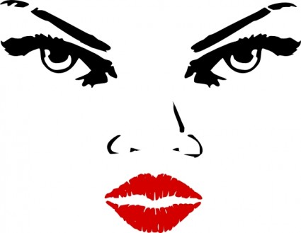 Woman Eyes clip art Vector clip art - Free vector for free download