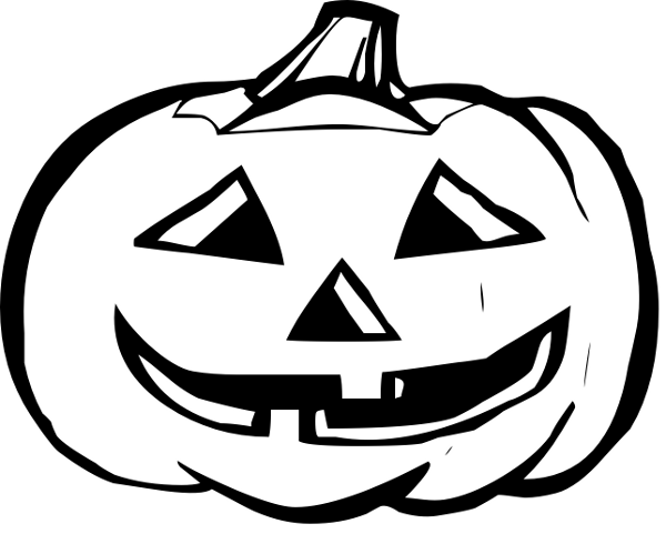Pumpkin Clip Art Black And WhiteHalloween Clip Art Black And White Pumpkin
