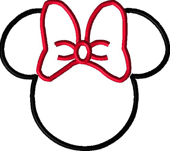 Minnie Mouse Head Outline - Cliparts.co