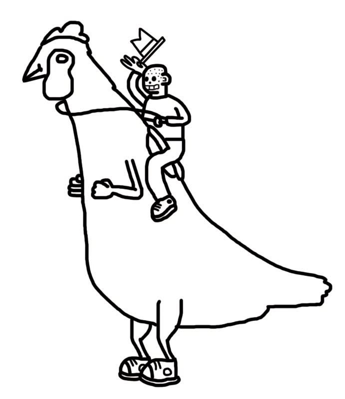 Line Drawing Hen : Chicken line art cliparts