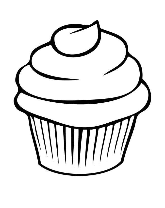 Coloring Pictures Cupcake For Kids - Cookie Coloring Pages ...