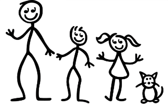 stick figure family pictures clipartsco