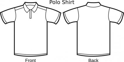 Polo Shirt Template - Cliparts.co