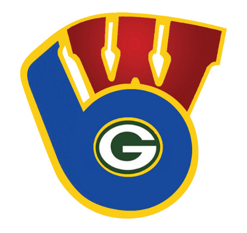 Packers, Bucks and Brewers Logo Total Packers