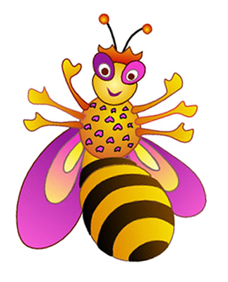 Bee Cartoon Clipart, Cute Bumble Queen Bee | Just Free Image Download