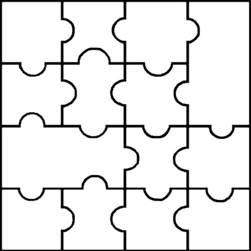 Large puzzle piece template for Puzzle cutting board plans