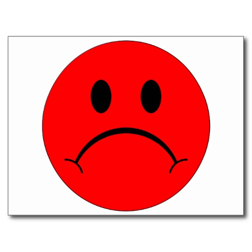 Red Sad Smiley Face | Quotes  - Cliparts co
