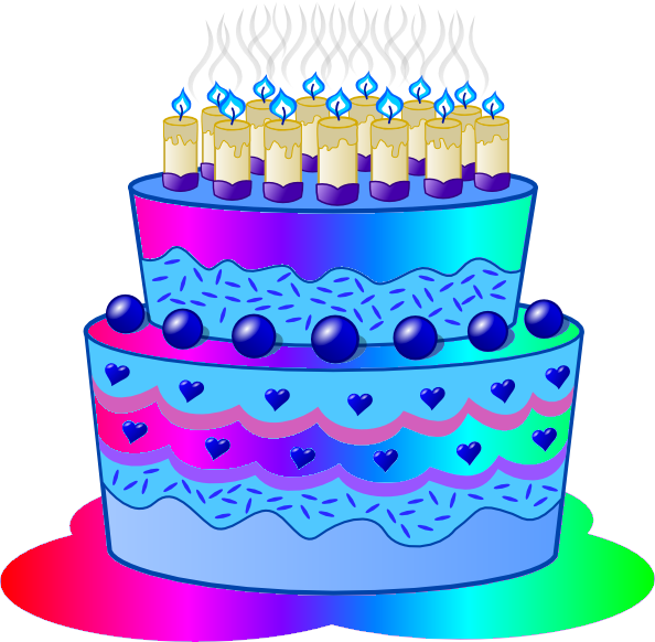 Birthday Cake D image - vector clip art online, royalty free ...: cliparts.co/images-of-a-birthday-cake