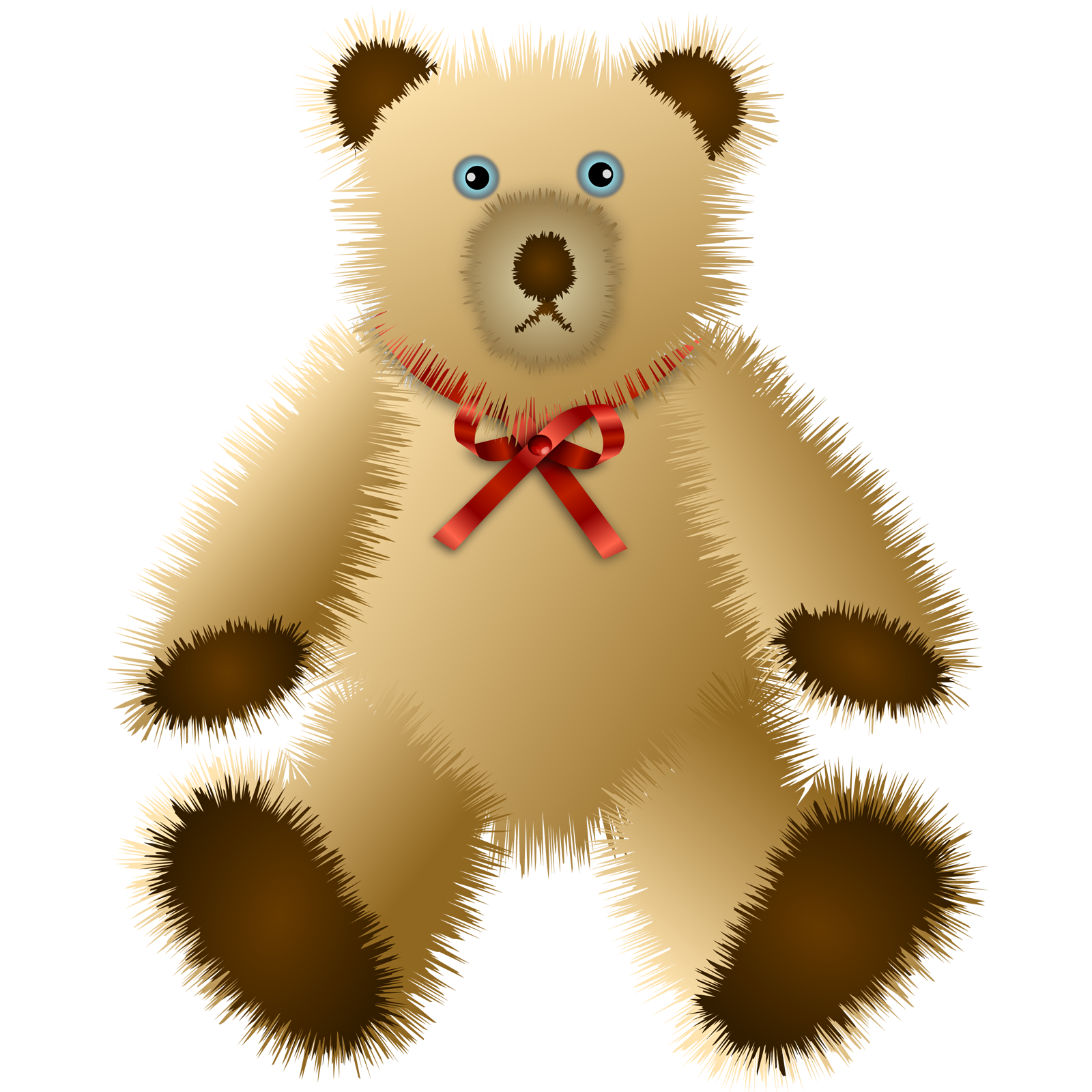 Shaggy Teddy Bear Free Vector / 4Vector