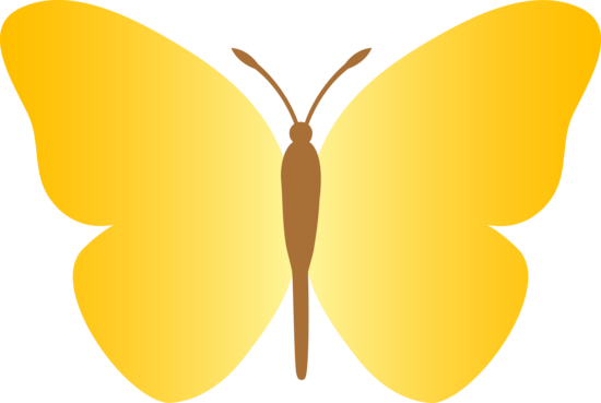 Yellow Butterfly Cartoon Clipart