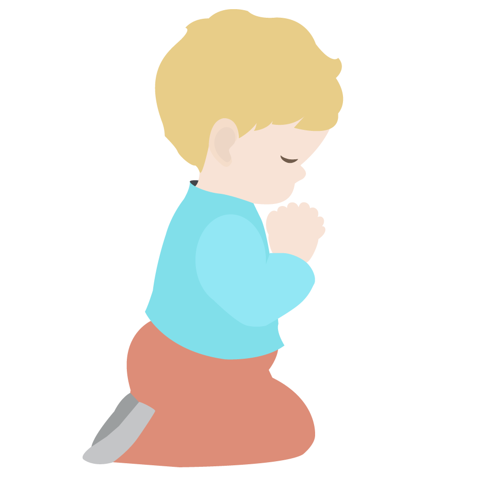 children praying clipart - photo #2