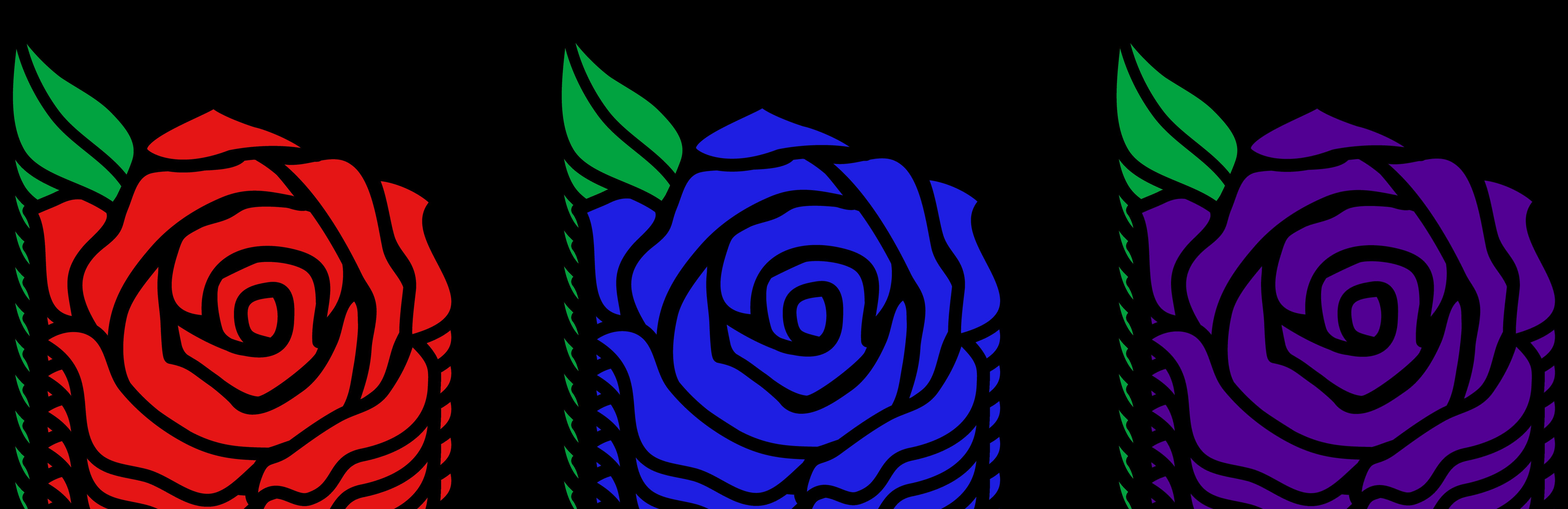 Cartoon Rose Cliparts