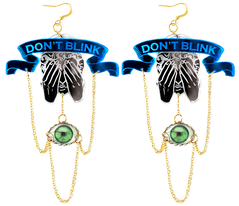 Don't Blink Doctor Who Weeping Angel Earrings · Asunder · Online ...