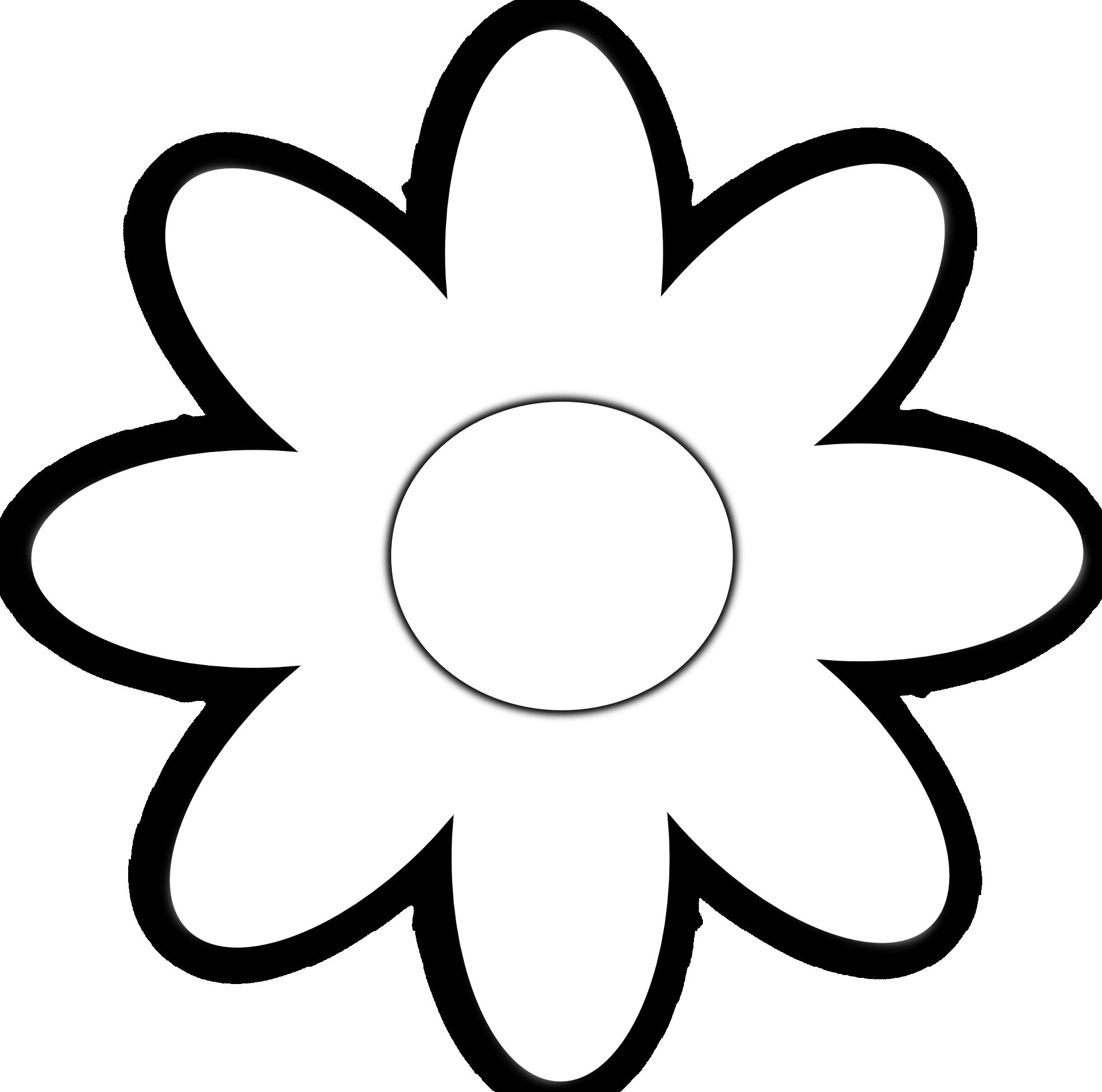 Flower Vector Black And White Daisy Flower 5 Black White