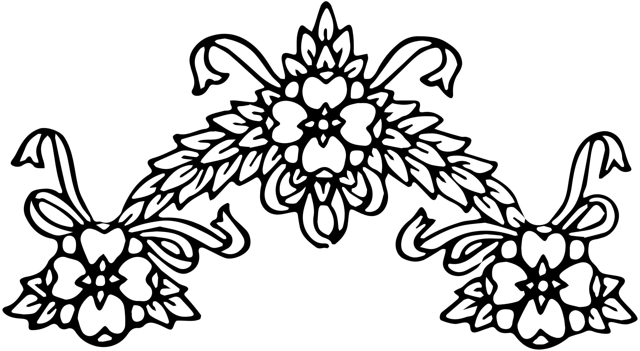 free clipart. line drawings of flowers - photo #42