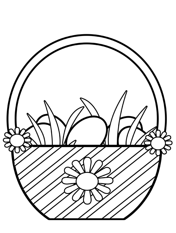 Line Drawing Easter : Easter baskets pictures cliparts