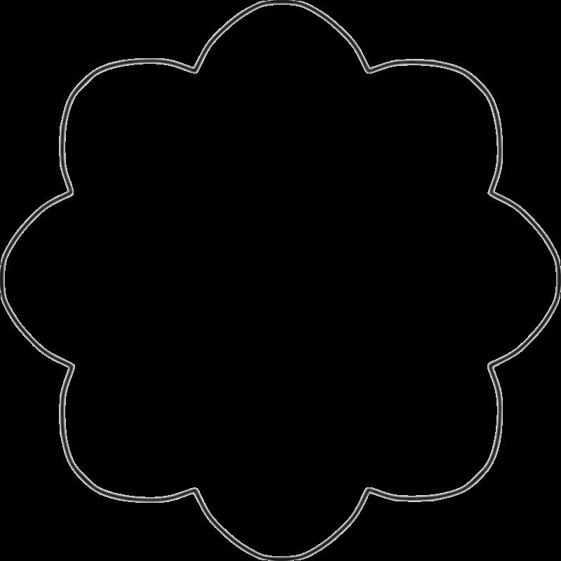 Eight Petal Flower Template: 8 Petal Flower Template
