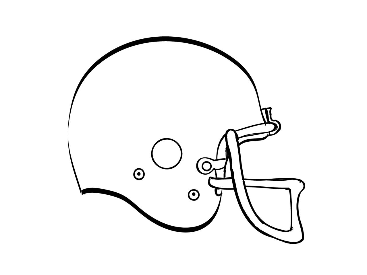 How To Draw A Football Helmet - Cliparts.co