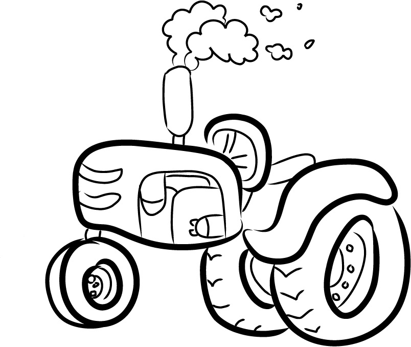 coloring pages of a farmall tractor cartoon - Coloring Point