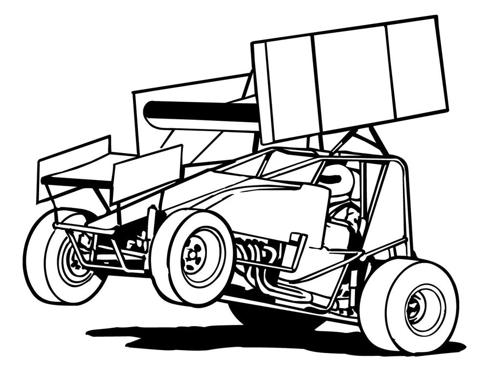 dirt sprint car coloring pages - photo#20