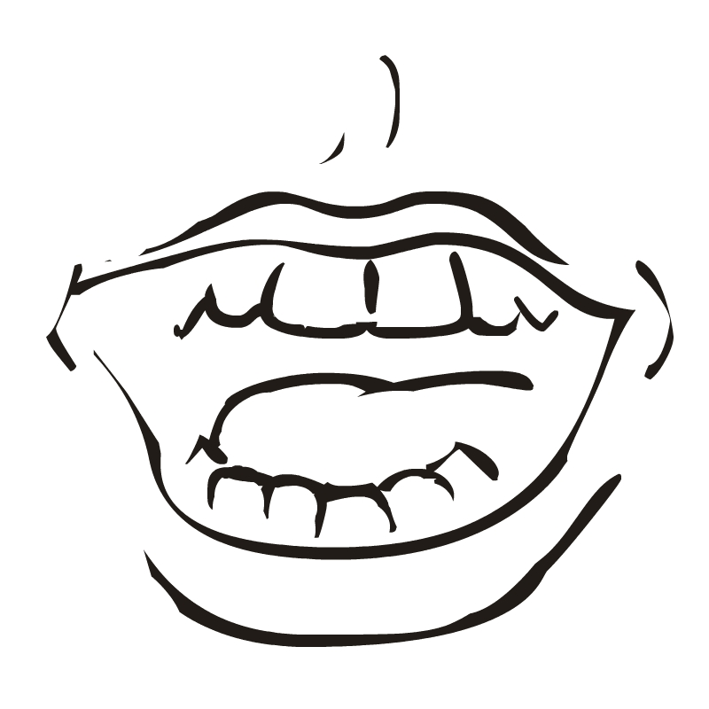 Mouth Clip Art Black And White
