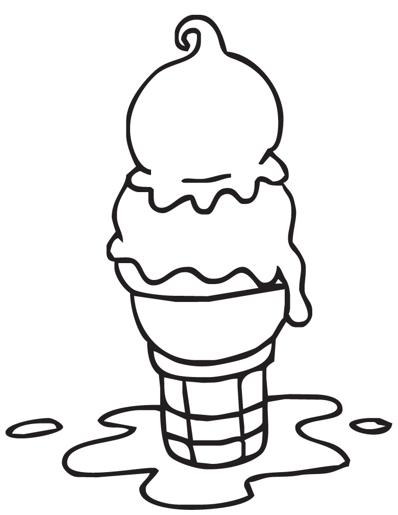 ice cream scoop black and white clipart - photo #47