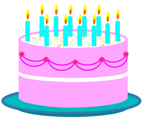 Birthday cake 2 clipart sketch lge 14cm | Flickr - Photo Sharing!