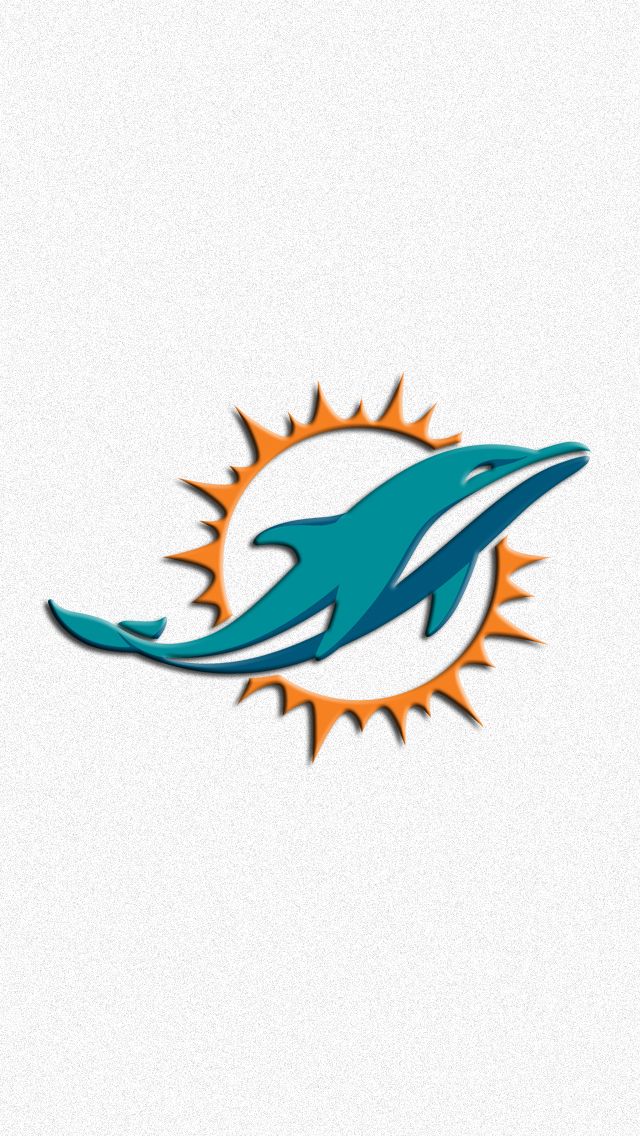 Miami Dolphins Logo iPhone 5 Wallpaper (640x1136)