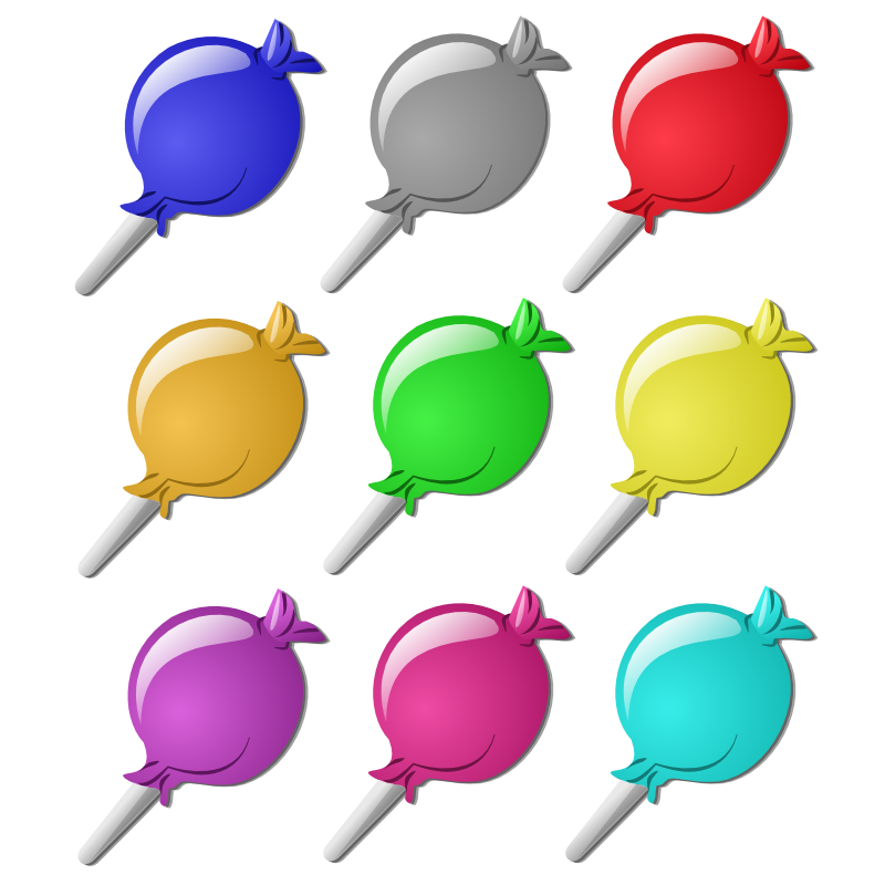Clipart - Game marbles - candies