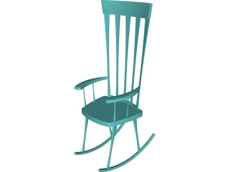 Cartoon rocking chair cliparts
