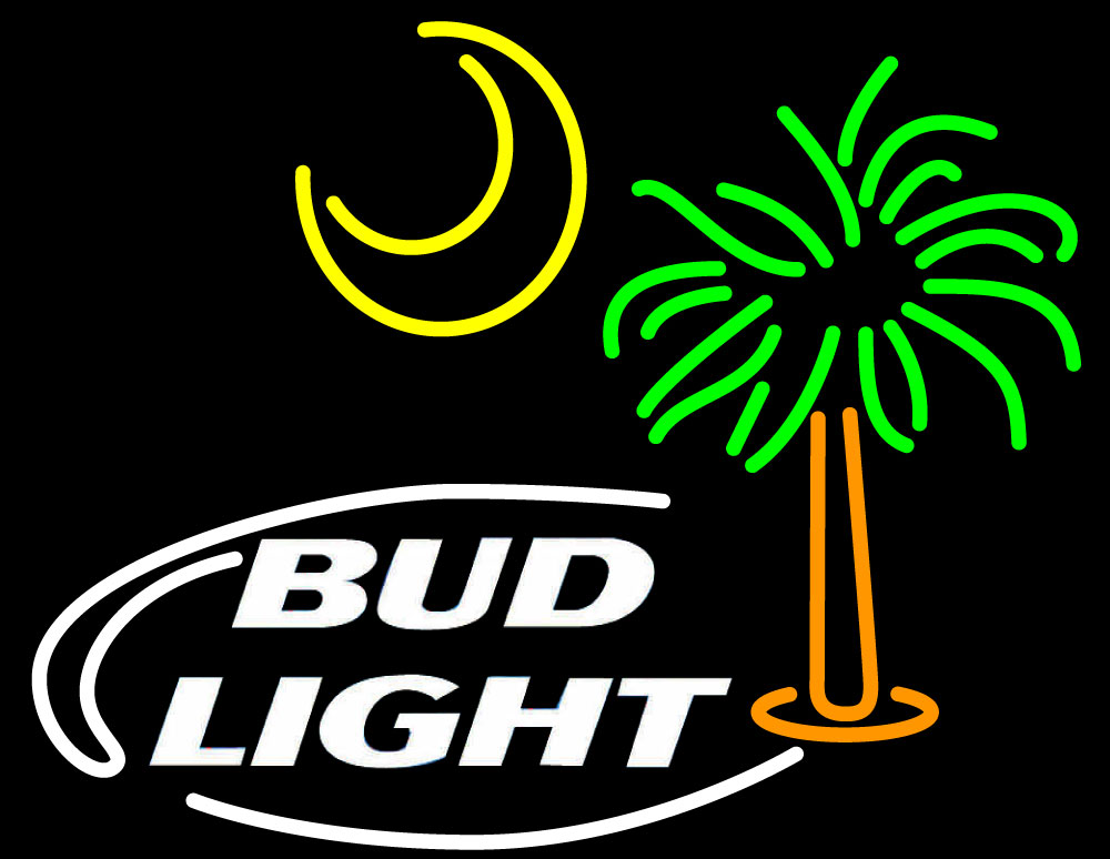 Bud Light Palm Tree With Sun Neon Sign | Bud Light Neon Beer Signs ...