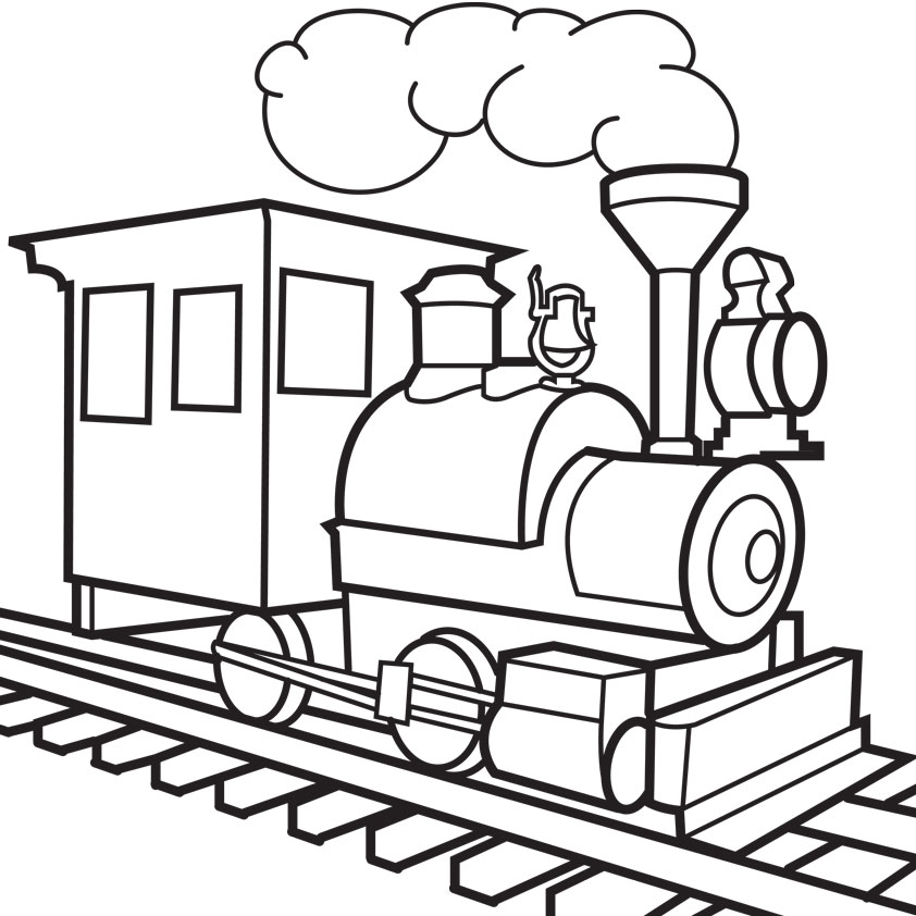 trucks and trains coloring pages - photo#18