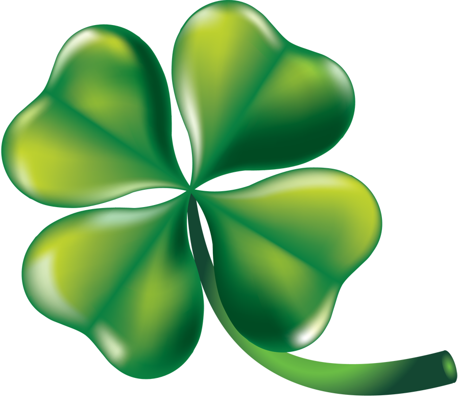 ClipArtFort: Holidays   St. Patrick's Day   Four leaf clover ...