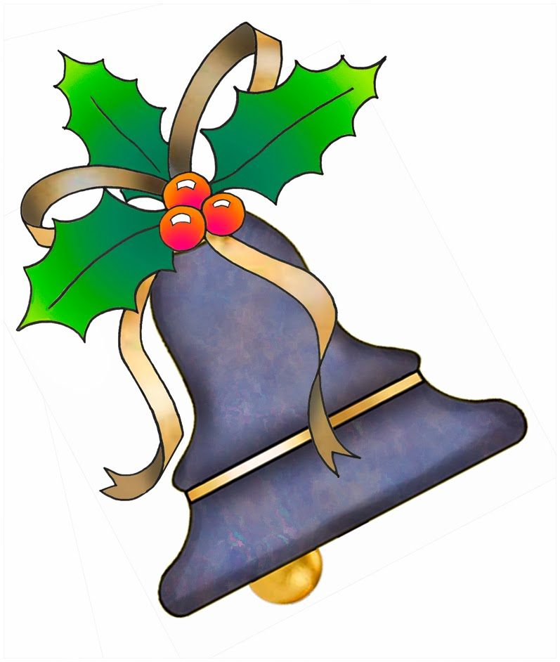 ArtbyJean - Purple Wood Roses: Christmas Bells Clip Art from set ...