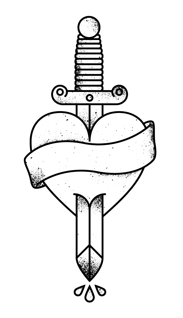 how to draw heart tattoo designs