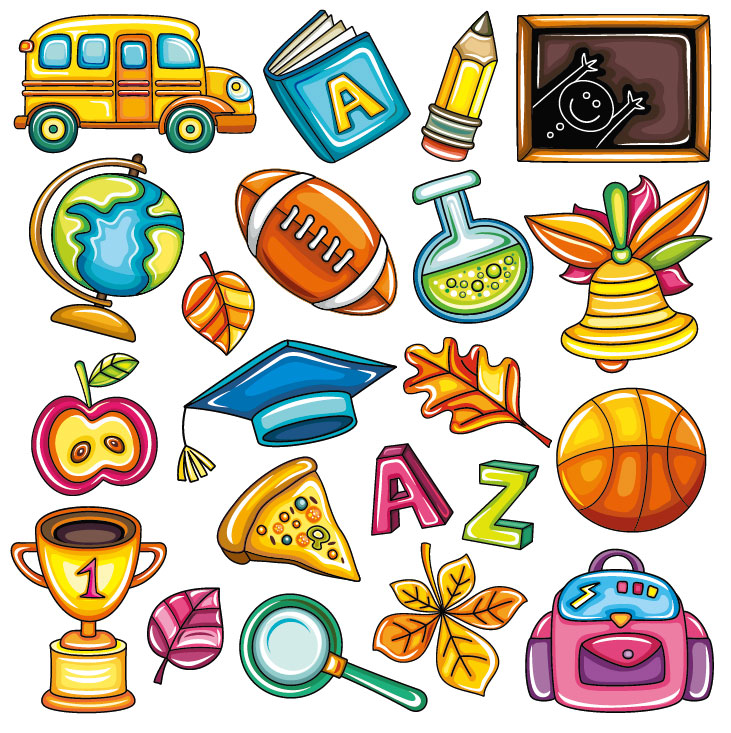 Cartoon Pictures Of School Supplies - Cliparts.co