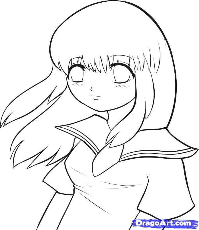 простые картинки аниме простым карандашом