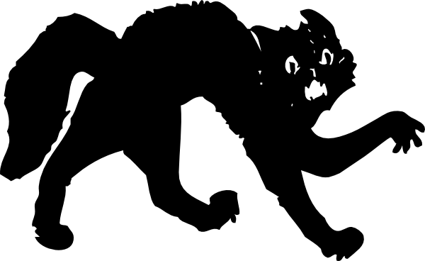 Halloween Cat Clipart Black And White | Clipart Panda - Free ...
