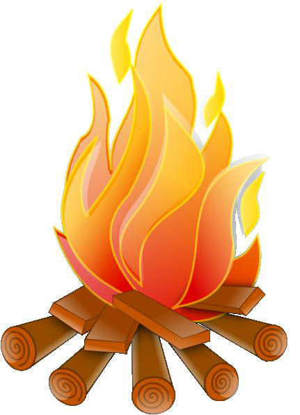 Logs On A Fire Clip Art - Cliparts.co