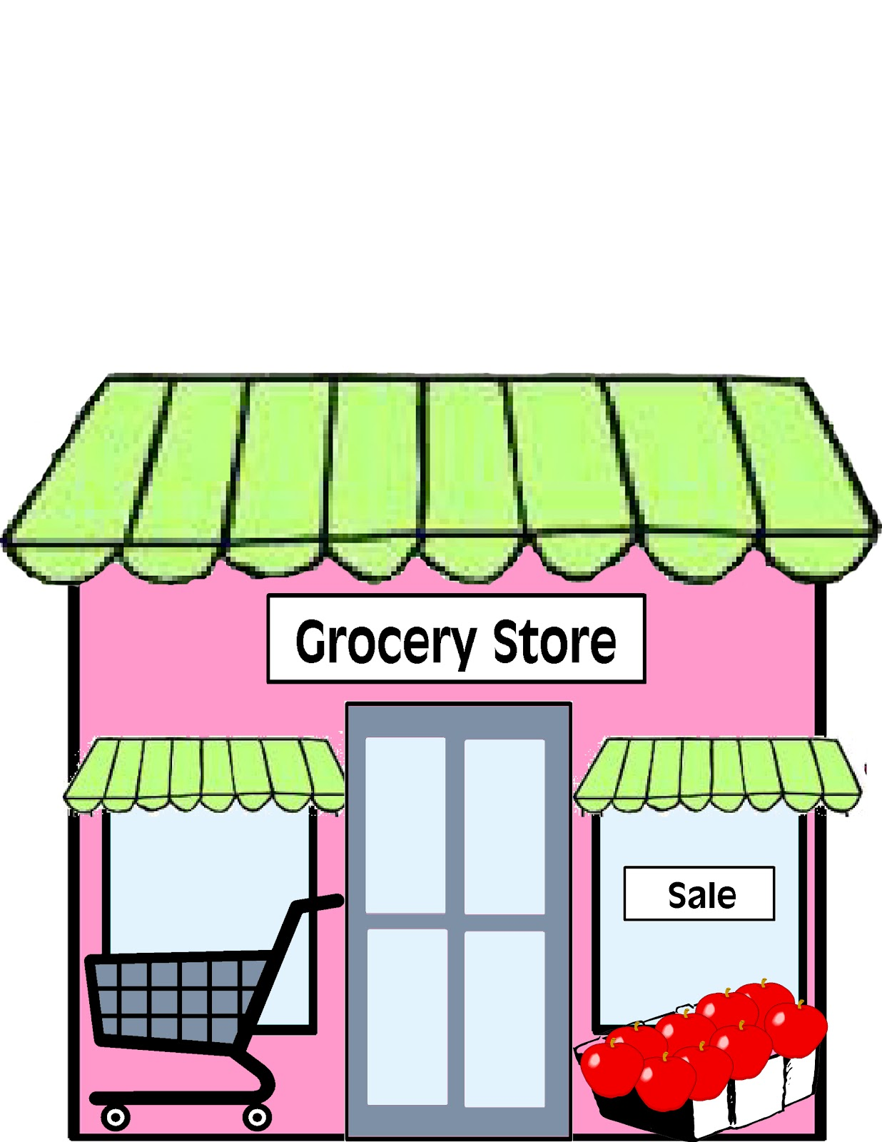 Grocery Store Clipart Images & Pictures - Becuo