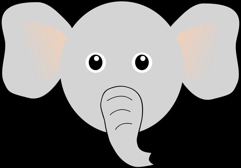 elephant face clipart outline -#main
