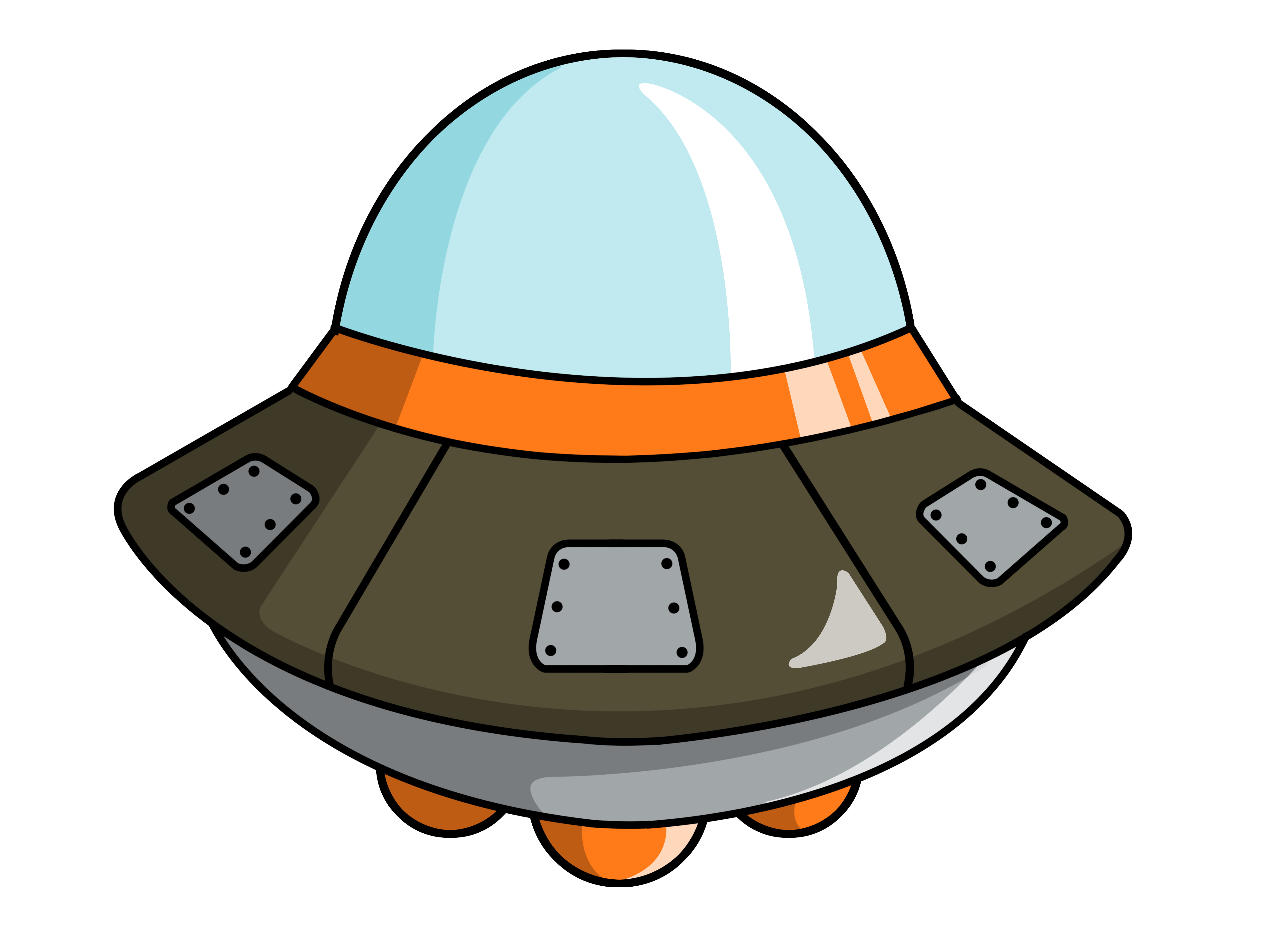Cartoon Space Ship