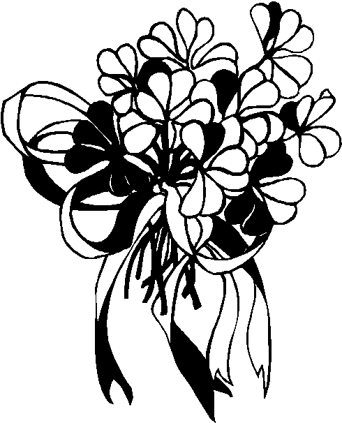 Flower Bouquet Clipart Black And White | Clipart Panda - Free ...