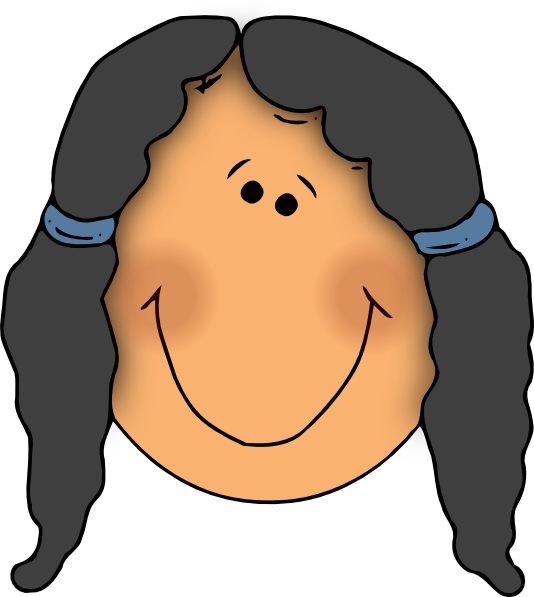 clipart little girl face - photo #9