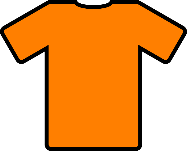 Orange T-shirt Clip Art clip art - vector clip art online, royalty ...