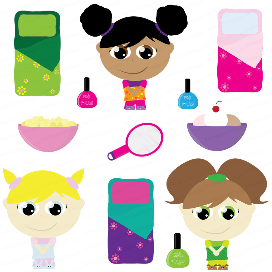 Free Clipart Slumber Party