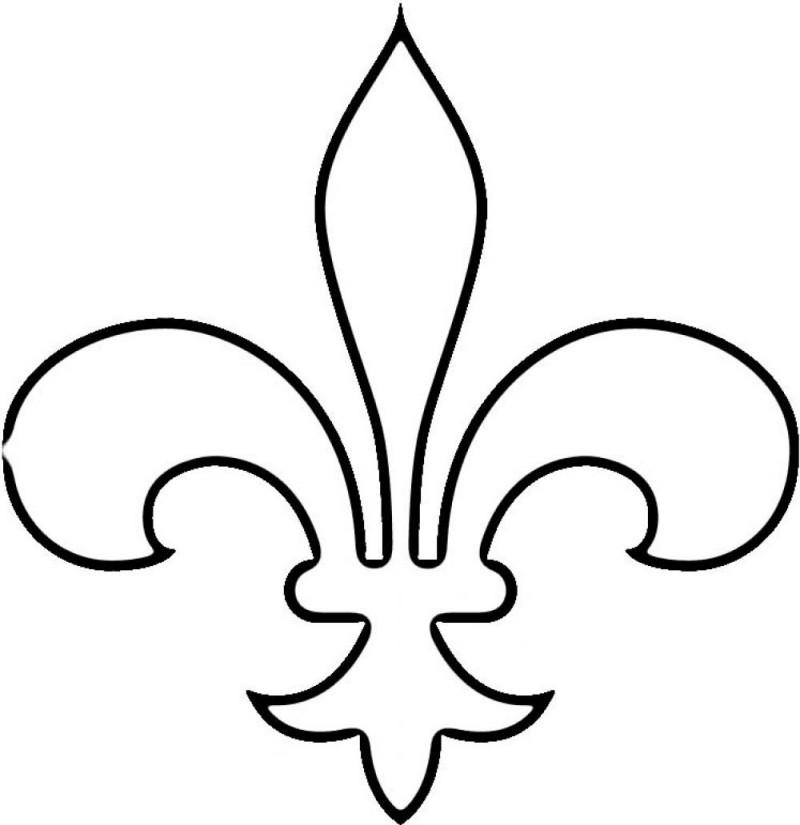 Fleur de lis template for Flur design