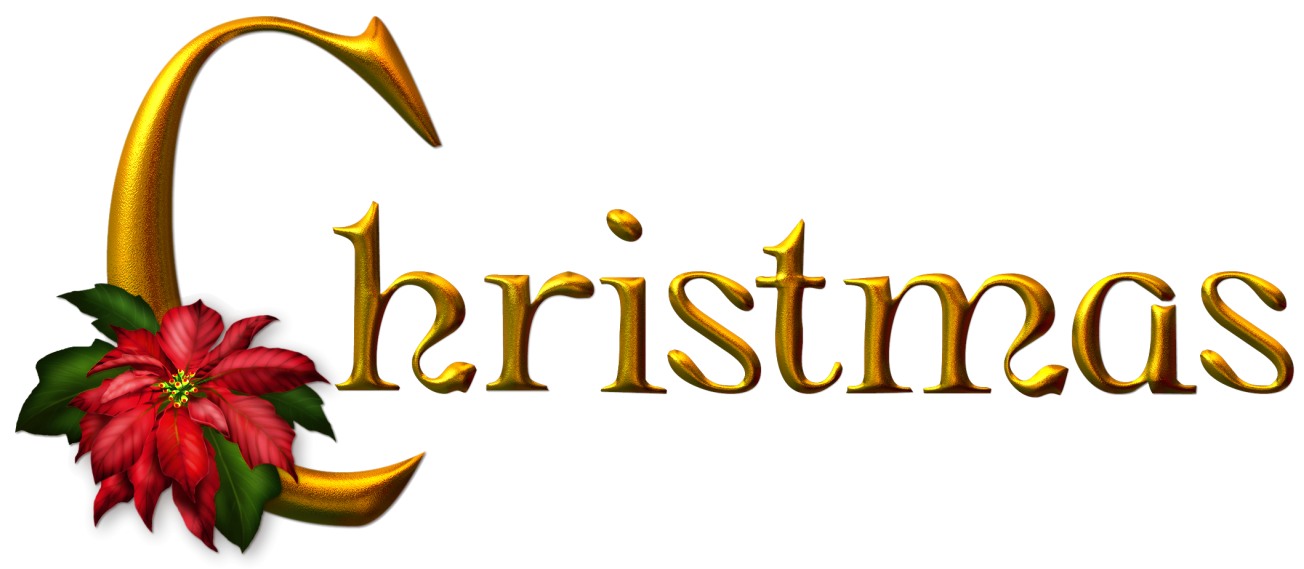 Golden Christmas PNG Clipart